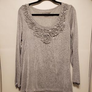 Women's RXB  Embellished Jeweled Top XL